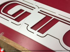 Rough cut of the main sign is cut with CNC....