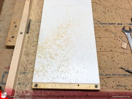 """1/2"""" plywood laminated with 1/8"""" styrene is the base for the characters."""