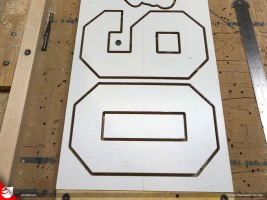 """Characters are cut using a 1/8"""" endmill router bit on the CNC."""