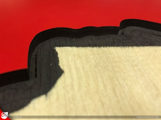 Hmmm.....why didn't I just paint the entire cavity black?.....